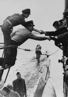 U-Boats ~ Encounter Between German Submariner & Mariner In Atlantic On December 28, 1941 ~ Getty Images ~ BFD