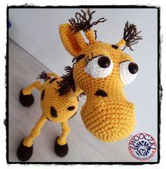 Crochet Giraffe by Zwooczki on Etsy
