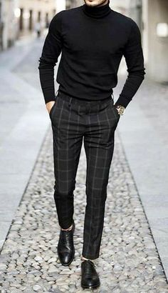 Black Outfit Men, Formal Men Outfit, Man Outfit, Formal Shoes, Stylish Mens Outfits, Casual Outfits, Men Casual, Casual Menswear, Man Style Casual