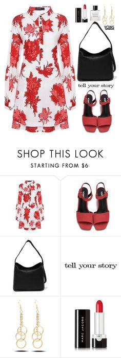 """""""Yoins: Oversized Floral Dress"""" by beebeely-look ❤ liked on Polyvore featuring MICHAEL Michael Kors, Tim Holtz, Marc Jacobs, Tom Daxon, shirtdress, oversized, floraldress, under100 and yoinscollection"""