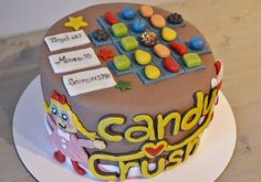 Candy Crush cake for dad on father´s day!