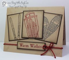 I used the Stampin' Up! stamp set called Winter Wishes to create my card to share today.