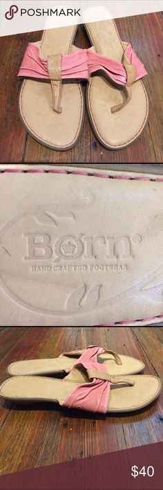 NEVER WORN PINK BORN SANDALS... Cute Never Worn Pink BORN Sandals.. Size 8.. BORN Shoes