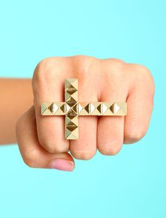 #Love Culture             #ring                     #Gold #Studded #Cross #Ring                         Gold Studded Cross Ring                             http://www.seapai.com/product.aspx?PID=2927