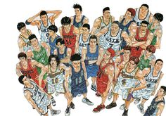 Slam Dunk by Inoue Takehiko It was awesome meeting the author at a book fair ages ago and I had this particular poster signed. I'm usually not into sports manga but this had enough laughs and drama to keep me hooked. Kuroko, Manga Art, Manga Anime, Anime Art, Slam Dunk Manga, Inoue Takehiko, Comic Games, Detroit Pistons, Burton Snowboards