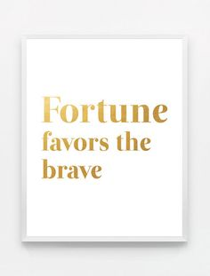 Gold Typography Poster Inspirational Quote Wall Art