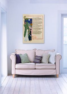 Kahlil Gibran calligraphy print on stretch canvas to make a stunning statement on your wall!