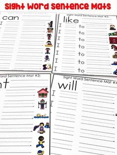 April Literacy Centers for First Grade Sight Word Sentences, Teaching Sight Words, Sight Word Worksheets, Sight Word Activities, Writing Activities, Writing Ideas, Literacy Worksheets, Teaching Letters, Autism Activities
