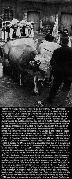 Desfile de carrozas durante la fiesta de San Martín, 1971 (Asturias) - Autor desconocido