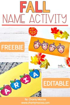 Fall Name Activity FREE Editable