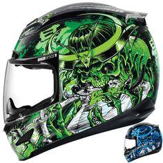 2015 Icon Mens Airmada Shadow Warrior Motorcycle Street Bike Helmet
