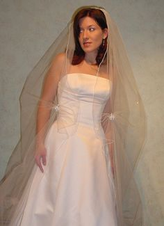Brooch Wedding  Veil Chapel or Cathedral Length One by AnnLeslie, $298.00