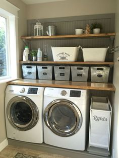Basement Laundry Room Decorations Ideas And Tips 2018 Small laundry room ideas Laundry room decor Laundry room makeover Farmhouse laundry room Laundry room cabinets Laundry room storage Box Rack Home Laundry Room Remodel, Basement Laundry, Farmhouse Laundry Room, Small Laundry Rooms, Laundry Room Organization, Laundry Room Design, Laundry In Bathroom, Organization Ideas, Laundry Storage