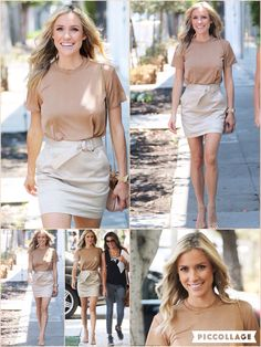 With her always-chic wardrobe choices, Kristin Cavallari has proven herself to be one of Hollywood's most well-dressed celebrities. And the former Hills star didn't fail to impress as she headed for lunch at Fig and Olive restaurant on Melrose Ave in Los Angeles on Friday. For her day out, the 29-year-old looked amazing in a camel and nude ensemble