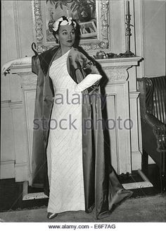 Actress Adina Mandlova Wearing A White Evening - Stock Photo Historical Pictures, Picture Photo, Personality, Old Things, Actresses, Statue, Stock Photos, Film, Celebrities