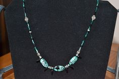 Black and Teal with Silver accents and black sliver beads  $11