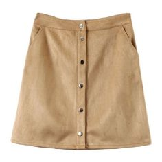 Savannah Safari Snap Fastening Mini Skirt (220 NOK) ❤ liked on Polyvore featuring skirts, mini skirts, bronze, button up skirt, beige mini skirt, mini skirt, short mini skirts and short skirts
