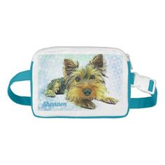 #name - #Custom Pastel Puppy Dog Yorkie Yorkshire Terrier Fanny Pack