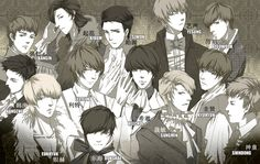 Super Junior FanArt [BY:阿猫] + Name in Korean on Twitpic