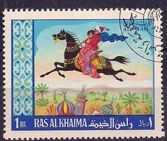 1001 Nights stamp from Ras Al Khaimah, UAE.