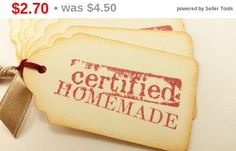 SALE Christmas Cookie Exchange Tags Certified by LazyDayCottage