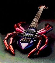 Great Bass Guitar..... I don't like spiders at all but this is pretty neat looking!