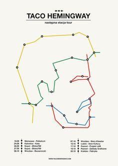 """Taco Hemingway - następna stacja (""""next station"""") tour poster"""