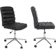Robby 3 - Kontorstol i sort PU læder Chair, Inspiration, Furniture, Home Decor, Biblical Inspiration, Stool, Interior Design, Home Interior Design, Arredamento