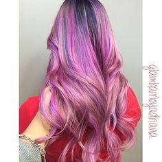 Pink and Purple Dimension hair color