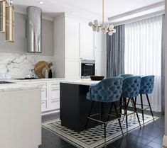 I love everything about this kitchen! Especially the bar stools.