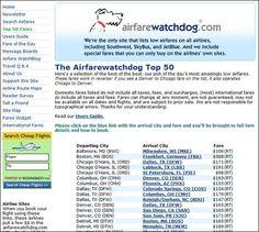 4. #Airfarewatchdog.com - 7 Great #Websites for Cheap Air #Tickets ... → #Travel #Package