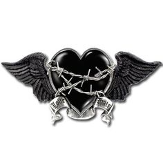 "Alchemy Gothic - Black Romance Buckle  £43.86   Sale: £35.09  Save: 20% off  Alchemy Gothic Buckles are all cast in solid English pewter, and are designed to be snapped onto standard 1 "" (37mm) belt straps Width 15.5cm Height 7.5cm"