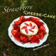 Ripped Recipes - Strawberry Cheesecake With a Coconut Crust  - Single Serving recipe for an awesome strawberry cheesecake with a coconut crust   NOTE: you can substitute greek yogurt with quark or mashed cottage cheese!