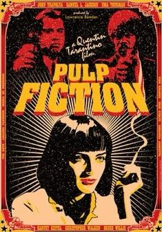 PULP FICTION - 1994 - film from Quentin Tarantino - inventive film poster - dimension 16 x 12 inches. Quentin Tarantino, Tarantino Films, Films Cinema, Cinema Posters, Film Posters, Best Movie Posters, Movie Poster Art, Fantasy Anime, Kunst Poster