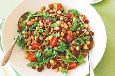 Bean and rocket salad main image