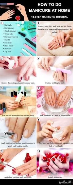 Manicure At Home: DIY Tutorial To Nail It! Learn how to do manicure at home step by step approach. This Manicure tutorial will help you to pamper your hands and feet after the polish of your nails. pedicure at home steps home manicure tips How To Do Manicure, Manicure Steps, Manicure Y Pedicure, Pedicure Tips, Gel Manicure At Home, Diy Nails At Home, Home Pedicures, How To Nail Art, Acrylic Nails At Home