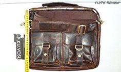 P.KU.VDSL® HOMBRES bolso de cuero genuino bolso de la vendimia de moda casual HOMBRO Business Messenger CROSS BODY BAG (Castaño Claro): Amazon.es: Equipaje