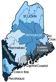 Maine rivers and watersheds