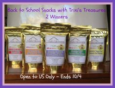"""Trixi's Treasures Snacks Pack Giveaway (Ends 10/04/14) - It's Free At Last - From products to movies, recipes and more. Come see how my life has become """"Free At Last"""""""