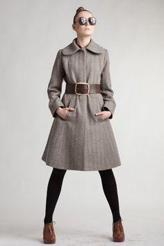 Custom Made Woolen Coat with Round Collar by mrspomeranz on Etsy, £372.00