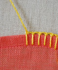 Tutorial for different blanket stitches - on the edges of clothing, napkins, etc
