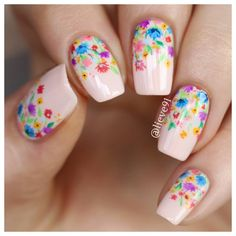 Check out this collection of 20 best spring nail art designs & ideas of 2019 Creative Nail Designs, Short Nail Designs, Nail Designs Spring, Creative Nails, Nail Art Designs, Spring Nail Art, Spring Nails, Summer Nails, Floral Nail Art