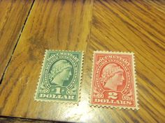 BOB PAIR -1914 LIBERTY DOCUMENTARY #R217 $1 & # R218 $2-FINE
