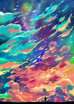 The Art Of Animation, Caring Wong Anime Scenery, Art Design, Pretty Art, Aesthetic Art, Landscape Art, Art Inspo, Amazing Art, Cool Art, Concept Art