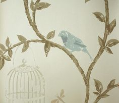 Create interest with large scale wallpaper against small-scale furniture