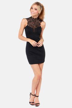 Renaissance Court Lace Black Dress at LuLus.com!