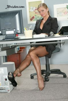 ... a young sexy female boss likes it to show her sexy feet to her new personal assistent....