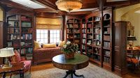 Beautiful Library And Study Room in American Luxury House