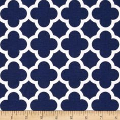 Riley Blake Quatrefoil Navy from @fabricdotcom  Designed by the RBD Designers for Riley Blake Designs, this cotton print is perfect for quilting, apparel and home decor accents. Colors include navy and white