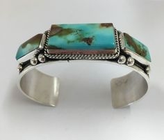 Native American Sterling Silver Navajo Handmade Royston Turquoise Bracelet in Jewelry & Watches, Ethnic, Regional & Tribal, Native American | eBay